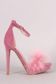 Shoe Republic Feather Strap Platform Stiletto Sandal