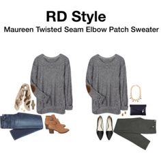 Maureen Twisted Seam Elbow Patch Sweater - I'd probably need this in a small.