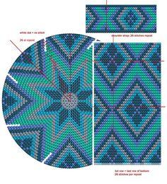made by lucienne - made by lucienne – handwerk zoals haken, breien, fotografie, origami - Beading Patterns Free, Bead Loom Patterns, Loom Bands, Crochet Chart, Bead Crochet, Origami Design, Mochila Crochet, Tapestry Crochet Patterns, Bag Pattern Free