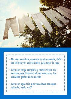 La lavadora es uno de los artefactos que más energía consumen, y más cuando calientan agua. Sigue estos consejos y reduce gastos en tu hogar. #SodimacHomecenter #Sodimac #Homecenter