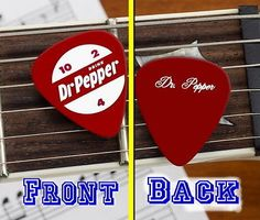 Click Here. Double your traffic. Get Vendio Gallery - Now FREE! Dr. Pepper Classic Soda Pop 10 4 2 ad Guitar Pick Click to View Image Album This is a Dr. Pepper guitar pick featuring the classic 10 4 Pepsi, Coke, Coca Cola, Dr Pepper, Pretty Pictures, Serif Font, Sans Serif, Guitar, Stuffed Peppers