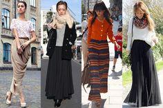 Maxi Skirt Office Wear Fall Winter 2013 Street Style