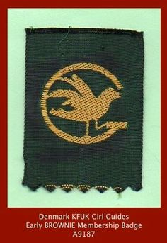 Denmark KFUK early BROWNIE Membership Badge - Girl Guides | eBay