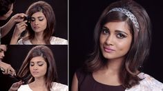 Indian Vintage Hairstyles How to Get the Hairstyle Look Retro Updo Hairstyles, Hairstyle Look, Beehive Hairstyles, Medium Long Hair, Medium Hair Styles, Short Hair Styles, Media Cola, Mod Hair, Bollywood Hairstyles
