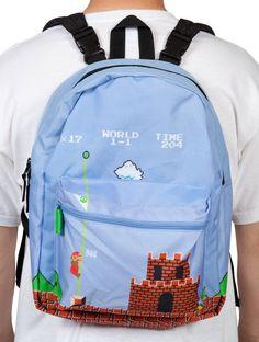 Nintendo Super Mario Reversible Backpack: World 1-1 and 8-4