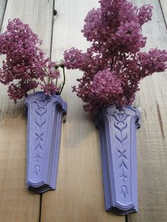 "Wall Pockets wall decor vintage purple lavender ""French Lilac Wall ..."