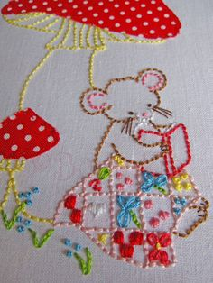 Sweet Mouse Embroidery PDF Patterns Set of 2 by bumpkinhill