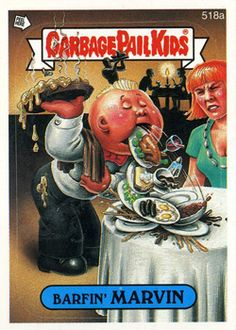 The Garbage Pail Kids Sticker Gallery for Original Series 13 features hi res images of every sticker in the series! Kids Stickers, Cool Stickers, Funny Stickers, Caricatures, Garbage Pail Kids Cards, Kids Series, Series 3, Horror Posters, Kids Board