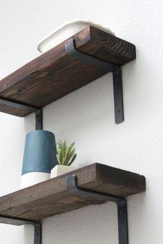 Black Shelf Brackets, Modern Shelving Hardware Metal, Screws Included - Interieur - Shelves in Bedroom Metal Bookshelf, Shelving Hardware, Decor, Modern Shelving, Steel Shelving, Black Shelves, Interior, Home Decor, Metal Shelves