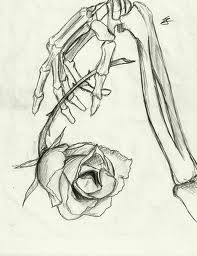 skeleton with rose drawing - Google Search