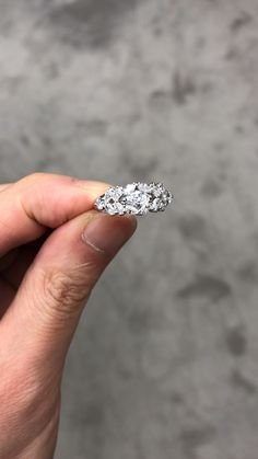 A beautiful engagement ring made in white gold with high quality marquise diamonds and round diamonds. Beautiful Engagement Rings, Rose Gold Engagement Ring, Vintage Engagement Rings, Anniversary Bands For Her, Diamond Anniversary Bands, Marquise Diamond, Diamond Rings, Unique Rings, Unique Jewelry