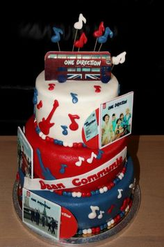 One Direction cake... I need this cake!