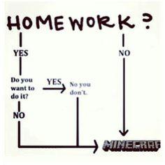 Homework? MINECRAFT!