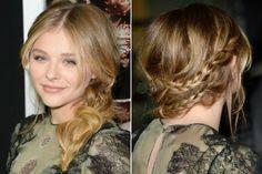 Chloe Grace Moretz's braided ponytail - now THAT's different! #celebrityhair#braided ponytail