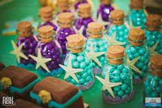 Little Mermaid Birthday Party favors Little Mermaid Baby, Little Mermaid Parties, Little Mermaid Wedding, Mermaid Bridal Showers, Idee Baby Shower, Diy Shower, Shower Cake, Shower Favors, Shower Gifts