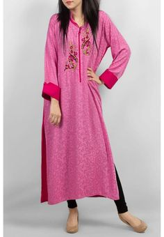Full Length Collared Long Sleeve Casual Dresses for Women Pakistani Long Kurtis, Pakistani Dresses, Indian Dresses, Wedding Party Dresses, Casual Dresses For Women, Casual Chic, Winter Fashion, Winter Style, Suit