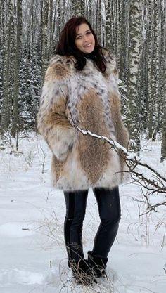 Lynx, Fur Coat, Furs, Jackets, Snow, Clothes, Fashion, Fur, Down Jackets