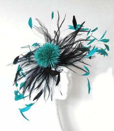 Jade Green/Black Fascinator Hat
