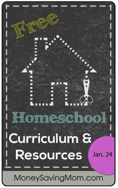 Check out this HUGE list of free Homeschool Curriculum & Resources for January 24, 2014.