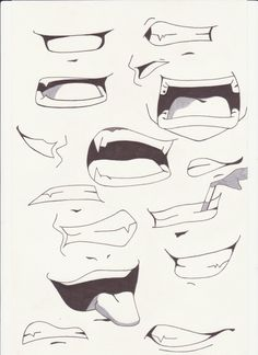 How to Draw Anime Lips | mouths i by saber xiii manga anime traditional media drawings 2012 ...