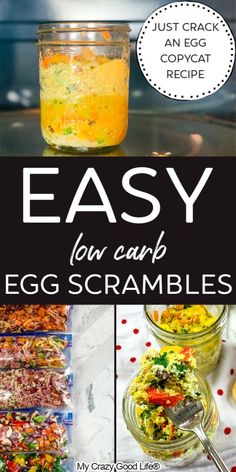 Just Crack an Egg Copycats are great for breakfast meal prep! They're healthy and inexpensive microwave egg scrambles that can easily be frozen. 21 Day Fix Breakfast, Low Carb Breakfast, Breakfast Ideas, Weight Watchers Breakfast, Weight Watchers Meals, Healthy Low Carb Recipes, Healthy Breakfast Recipes, Egg Recipes, Real Food Recipes
