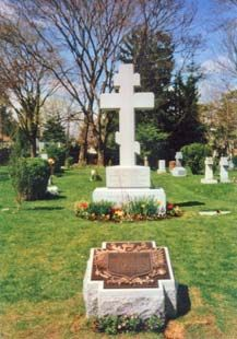 Final resting place of Grand Duchess Olga Alexandrovna Romanov, sister of Tsar Nicholas II, in the Russian Cemetery of North York (now a part of Toronto, Canada.)  Her husband had passed away two years earlier.