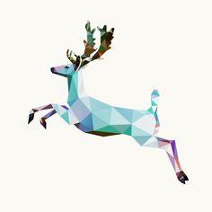 """Saatchi Online Artist: Kamilla Marant; Vector 2013 New Media """"deer"""""""