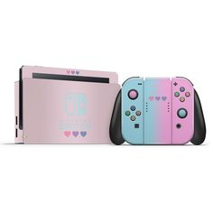 Pastel Pink & Purple Hearts Switch Skin - Nintendo Switch Games - Trending Nintendo Switch Games - Pastel Pink & Purple Hearts Switch Skin High quality vinyl skins to personalize and protect nintendo switch joycons and dock Pastel Pink, Pink Purple, Purple Hearts, Nintendo Switch Accessories, Gaming Accessories, Ac New Leaf, Accessoires Iphone, Gaming Room Setup, Nintendo Switch Games