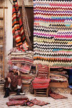 Vendedor de tapetes en Marruecos