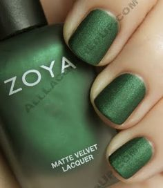 I'm a real sucker for matte colors. And this Veruschka green is just gorgeous. Like a shimmering evergreen tree.