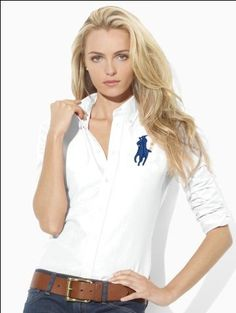Ralph Lauren Womens Big Pony Cotton Shirts In White Womens Fashion Uk, Mod Fashion, Curvy Women Fashion, Fashion Wear, Latest Fashion For Women, French Fashion, Fashion Outfits, Fashion Trends, Fashion Online