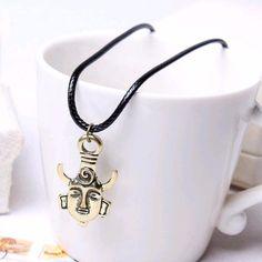 Supernatural Dean Winchester Mask Amulet Demon Pendant Necklace
