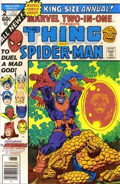 Warlock Epic 9: Death of Warlock. Spiderman shits himself. Massive Warlock Thanos fight. Avengers versus everyone. Jim Starlin. Possibly the greatest superhero comic ever created by Marvel. Take a bow the great Jim Starlin.