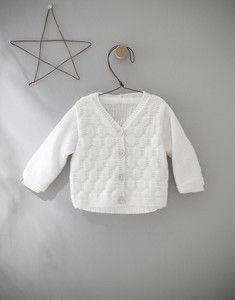 Modèle gilet blanc layette Partner Baby