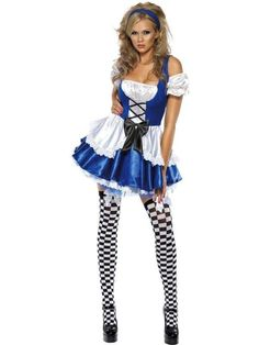 30a23d02ef Ladies Fever Boutique Sexy Alice in Wonderland Fancy Dress Costume. Become  the sexiest girl in Wonderland in this fancy dress costume.