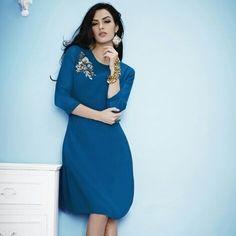 Blue Georgette Kurti