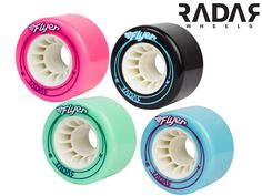 For the serious outdoor skater the Flyer outdoor quad roller skate wheels by Radar are the perfect choice. At 66mm this wheel offers great speed!