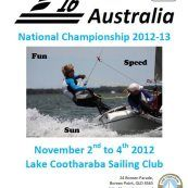 "F16 National Championships 2012/2013  To be held at Lake Cootharaba ""This is an event not to be missed, whether you sail or not,come along and watch this exciting event ""Bring the family and have fun"""