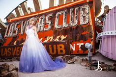 Purple Ombre Tulle Wedding Dress Couture by StaysiLeeCouture