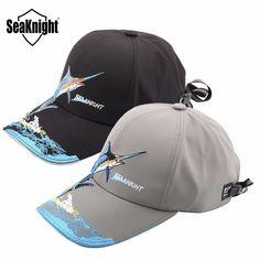 437854c005839 SeaKnight SK001 Outdoor Sports Fishing Caps Men Women Waterproof Sunshade  Breathable Embroidery Fishing Hat Fishing Equipment