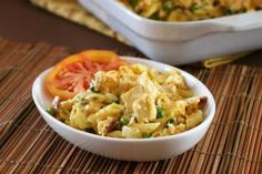 These pasta casseroles are one-dish wonders, perfect for family meals. Casseroles include hearty meat, chicken, and tuna dishes and a few meat-free choices.: Chicken Pasta Casserole With Cheddar Cheese and Bacon