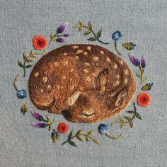 Dormire cerbiatto stampa