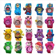 2016 New Fashion mixed style Cartoon Watch Children Silicone Quartz WristWatch Slap Cute Gift hot Sale 1pcs //Price: $8.99 & FREE Shipping //     #DRONE