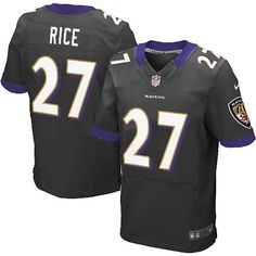 ead70ce35 Men s Nike Baltimore Ravens  27 Ray Rice Elite Black Alternate NFL Jersey  Bbc Football