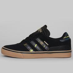 Adidas Skateboarding Busenitz Vulc, Core Black / Blush Blue / Gum