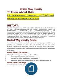 United Way Charity