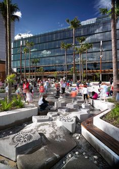 Darling Quarter by ASPECT Studios « Landezine | Landscape Architecture Works. Water playground.