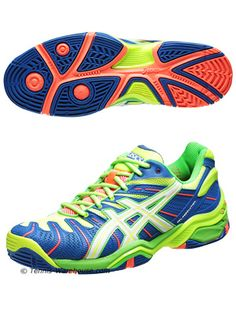 Asics Gel Resolution 4 Tennis Shoe... I would have been all over these in high school!