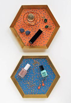 dotted vanity trays