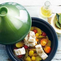 Le Creuset Tagine (Wolffish with Tomatoes, Lemon and Potatoes)